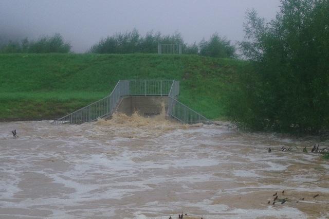 Hochwasseralarm in Jennersdorf