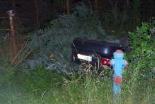 Fahranfänger landete nach Unfall mit Fahrzeugdach in einer Baumgruppe_1