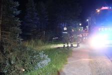 Fahranfänger landete nach Unfall mit Fahrzeugdach in einer Baumgruppe_5