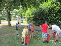 Kinder besuchten während Ferienbetreuung die Stadtfeuerwehr_1