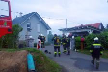 Rohbau geriet in Eisenberg an der Raab in Vollbrand_56