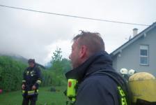 Rohbau geriet in Eisenberg an der Raab in Vollbrand_57
