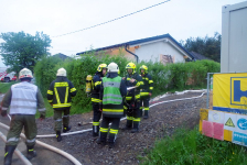 Rohbau geriet in Eisenberg an der Raab in Vollbrand_59