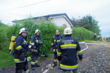 Rohbau geriet in Eisenberg an der Raab in Vollbrand_62