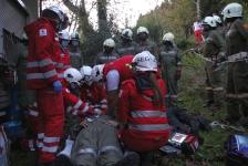 Zwei Personen aus Baumkrone gerettet_21