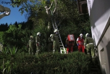 Zwei Personen aus Baumkrone gerettet_24